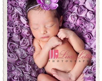 Baby Girl..Baby Headband..Baby Flower Headband..Lavender Headband..Light Purple Headband..Lavender Flower Headband..Light Purple Flower