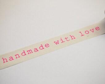 Washi Tape - handmade with love (10M)
