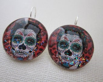 Elvis Viva Day O' Dead Star Girl Earrings