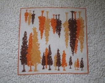 vintage tree scarf
