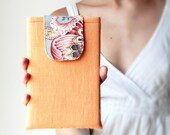 iPad Mini Case / iPad Mini Sleeve / iPad Mini Cover / Linen Orange Padded