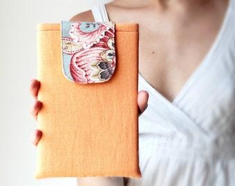 iPad Mini Case / iPad Mini Sleeve / iPad Mini Cover / Linen Orange Padded