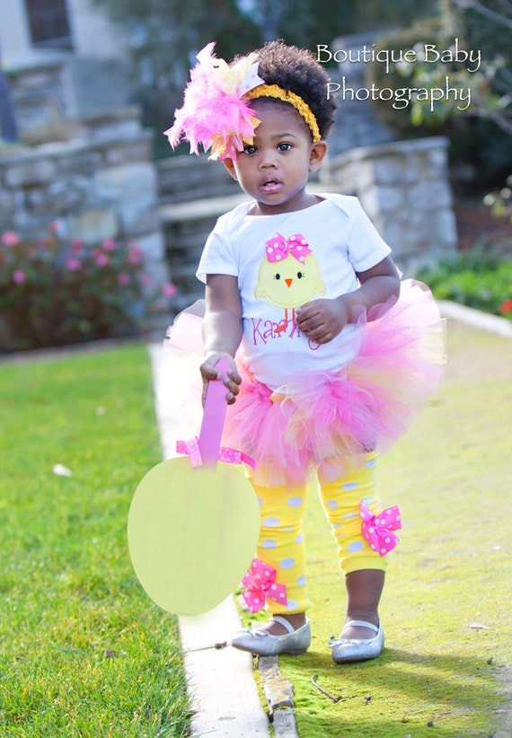 Baby Girl Easter Tutu Outfit Hot Pink Chickie Tutu