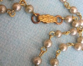 RESERVE for Susan Five Vintage Glass Pearl Necklaces With Clasp