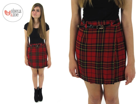 90S Plaid Skirt - Dress Ala