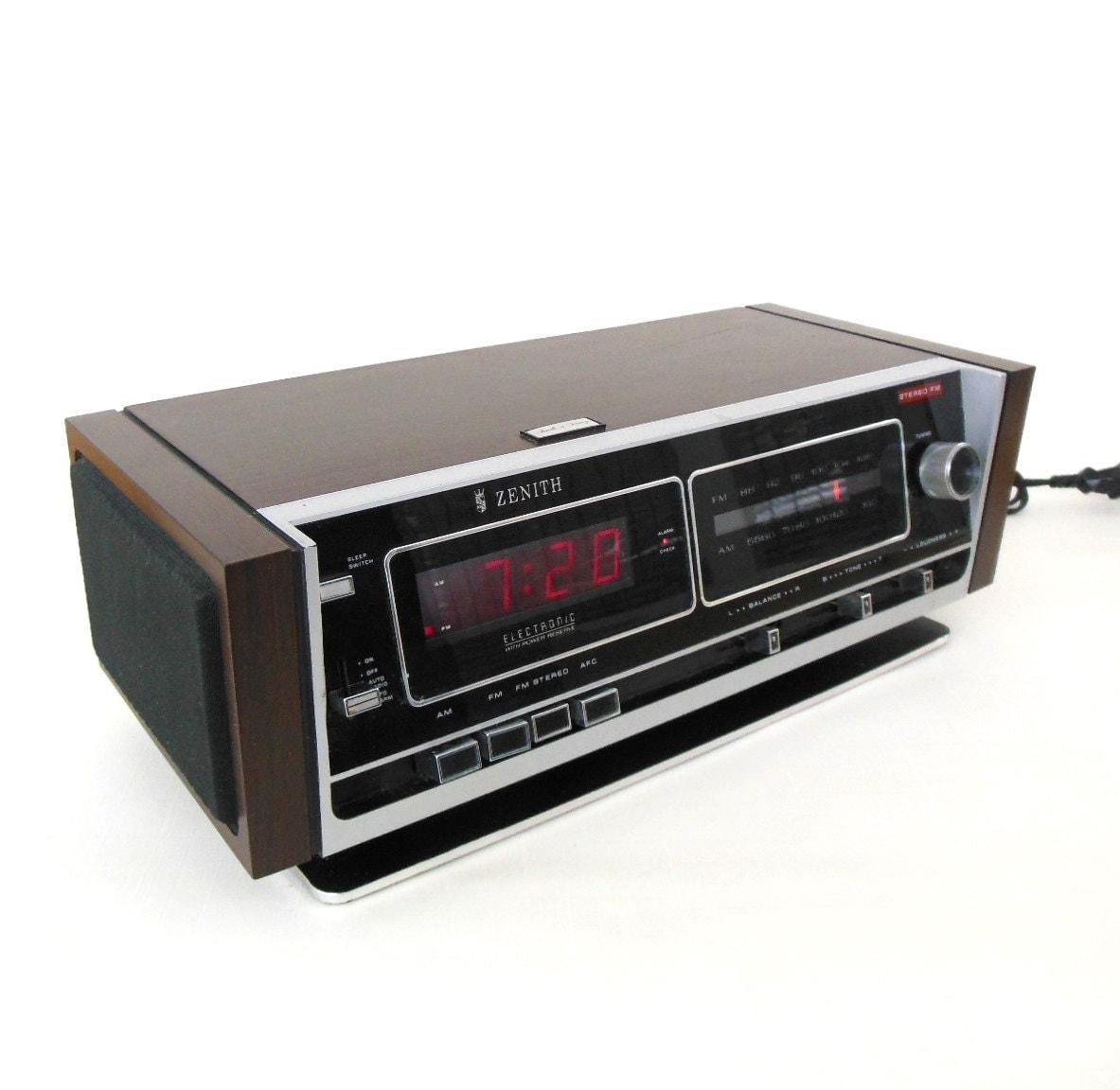 1960 WORKING Clock Radio Zenith Model C 519 L VINTAGE |Zenith Clock Radio