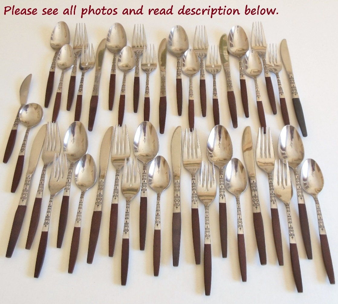 Danish Modern Flatware Set Interpur Inr2 Stainless