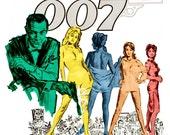 "James Bond 007 - Dr. No - Home Theater Media Room Decor - 13""x19"" or 24""x36"" - James Bond Movie Poster Print - Sean Connery - Ian Fleming"