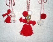 Martenitsa - is a small piece of adornment for welcoming the Spring, An Ancient Bulgarian Tradition 14 pieces