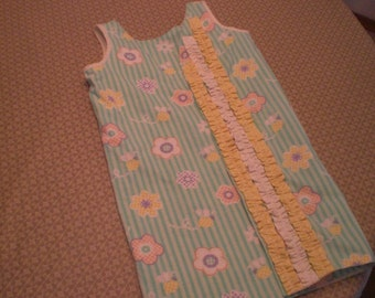 Ruffled Wrap Around Dress, size 4 thru 6