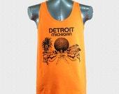 City of Detroit skyline retro throwback vintage design tank top