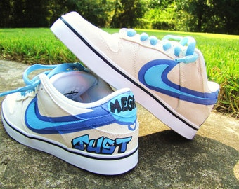 "Hand Painted Nike 6.0 Dunk Low ""Capri"" Custom Sneakers"