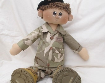 Rag Doll - Soldier Sam -CUSTOM MADE