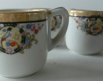 vintage cups espresso demitasse set of 4 Made in Japan from Diz has Neat Stuff