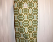 Plastic Grocery Bag Holder - Joel Dewberry Teal, Cream and Olive Fabric