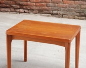 Mid Century Danish Teak End Table By Vejle Stole / Free Curbside Delivery NYC