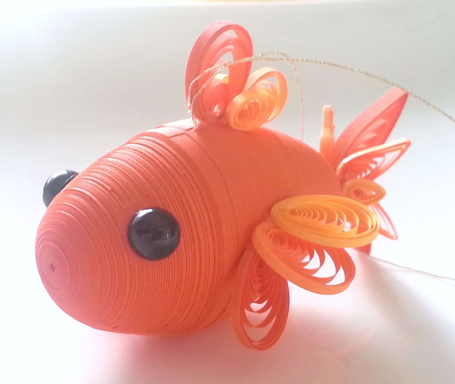 Orange goldfish ornament goldfish christmas decoration koi for Koi fish ornament