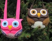 Little Girls Owl Purse Pattern Felt Purse Tutorial Owl Gift Bag Party Favor PDF Tutorial How To ePattern