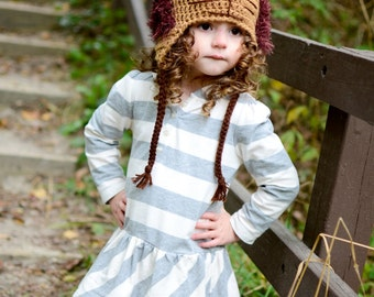 Lion hat, crochet lion hat with fun fur mane. Newborn through adult sizes available. Made to order.