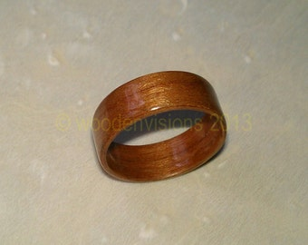 READY TO SHIP size 6 Hand Made ( Bentwood Method ) cherry wooden ring