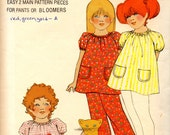 vintage 1970s toddlers DRESS pants bloomers butterick sewing pattern 6180 size 3 raglan sleeves EASY to sew PEASANT style