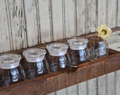 Farm Fresh Storage Rail:  Custom Length & Number of Jars