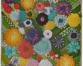 Crewel Embroidery Sampler Floral Garden Bouquet Transfer Pattern Instant Download