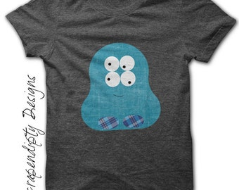 Monster Iron on Transfer - Space Iron on Shirt PDF / Little Monster Shirt / DIY Baby Clothes / Kids Monster Outfit / Cute Kids Clothes IT8-P