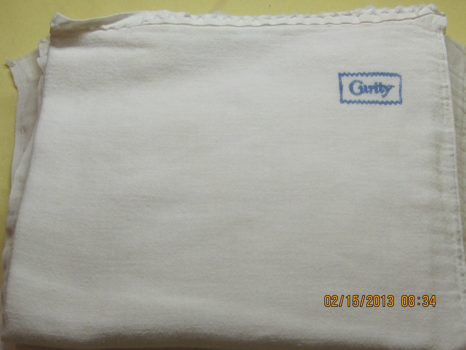 vintage curity gauze cloth baby diapers 1950 s