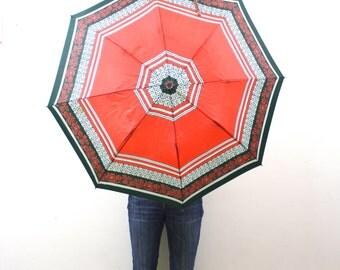 Vintage Retro Flower Umbrella