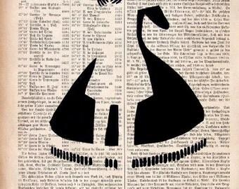 SLOW DANCE original ARTWORK mixed media print, poster wall decor illustration