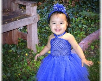 Royal Blue Tutu Dress- Baby Girl