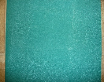 "Leather CLOSEOUT size 6 Pack 4""X6"" Turquoise Stingray Embossed Cowhide 3 oz / 1.2 mm PeggySueAlso™"