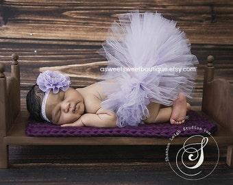 Sweet Freesia Tutu Lavender Newborn Tutu Lavender Tutu And Headband Purple Tutus Lavender Baby Tutu Purple Tutus Newborn Photo Prop