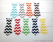DIY Iron on Tie Applique // Chevron