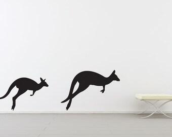 Kangaroo Wall Decals Etsy - Custom vinyl decals australia