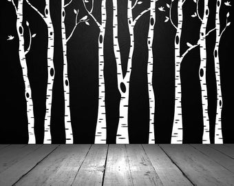 Birch Tree Wall Decal, Birch Tree Decal, Aspen Tree Decal, Birch Tree Wall Art, Birch Tree Decor, Wall Decal, Office, Bedroom, Home Decor