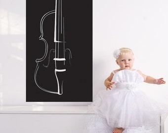 Violin decal etsy for Violin decorating ideas