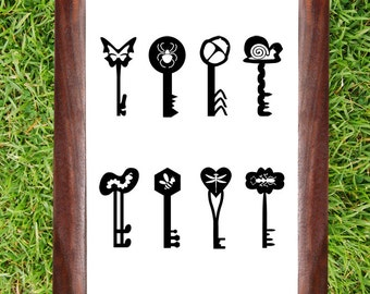 Butterfly Key, Bugs, Snail, Worm, Bee, Ant, Skeleton Keys, Vinyl, Wall Decal, Sticker, Home, Heart, Dragonfly, Kids Room Art, Bug Decor,