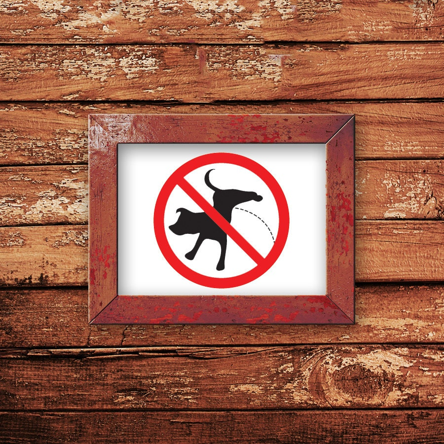 No Peeing Sign Dog Decal Decor Wall Vinyl
