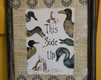 A Side of Duck - Upcycled Children's Book Art