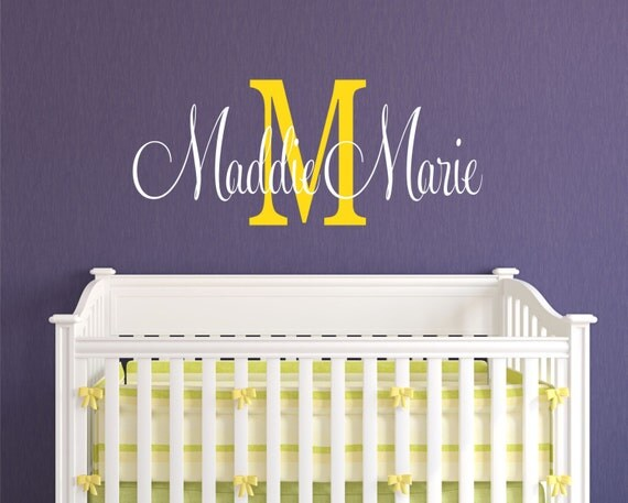 Children Wall Decal Personalized Decor   - Name Wall Decal - Childrens Decor Baby Nursery Name  Vinyl Wall Lettering