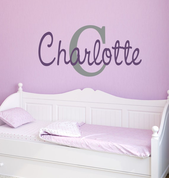 Girls Name Decal  - Name Wall Decal - Childrens Wall Decals - Girls Bedroom Decor - Personalized Name