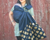 Baby Sling-JUMBOSALE-Ring Sling Baby Carrier  2 Layers of High Quality 100% SILK w. Embroidery - Golden Field w. DVD