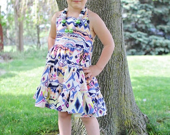Lola's Tiered Twirly Dress PDF Pattern size 6/12 months to size 8