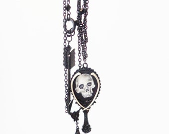 dark victorian layering necklaces, set of three - MEMENTO MOURNING