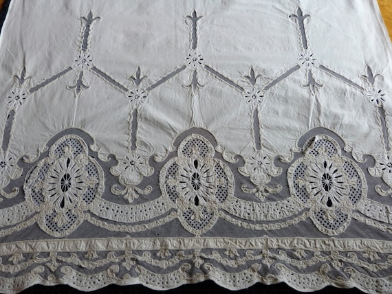 Art Nouveau Tambour Lace Window Curtain By Myfrenchantiqueshop