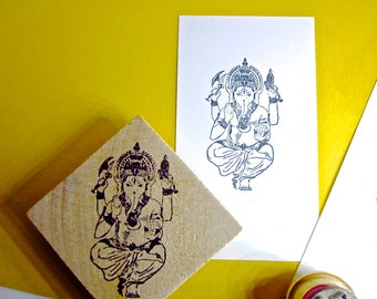 Ganesh Stamps Elephant god in 3 different sizes incredible detail SET3