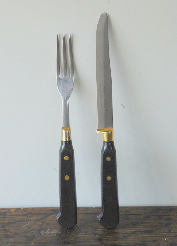 Vintage Imperial Stainless Granny S Knife And Fork Set