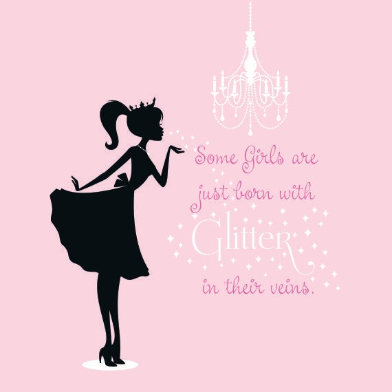 Princess Girl Quotes: Items Similar To Princess Silhouette Vinyl Wall Decal Set